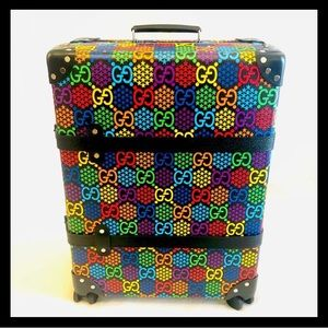 🌈🔥GUCCI RARE🔥🌈New Gucci Psychedelic Carry On Luggage